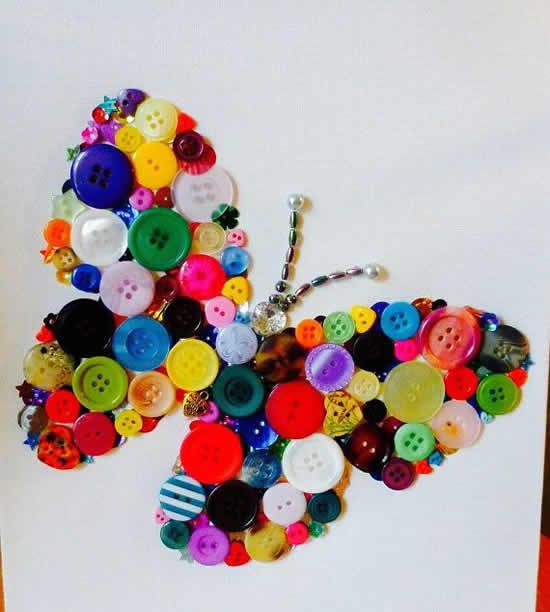 Artesanato lindo com botões
