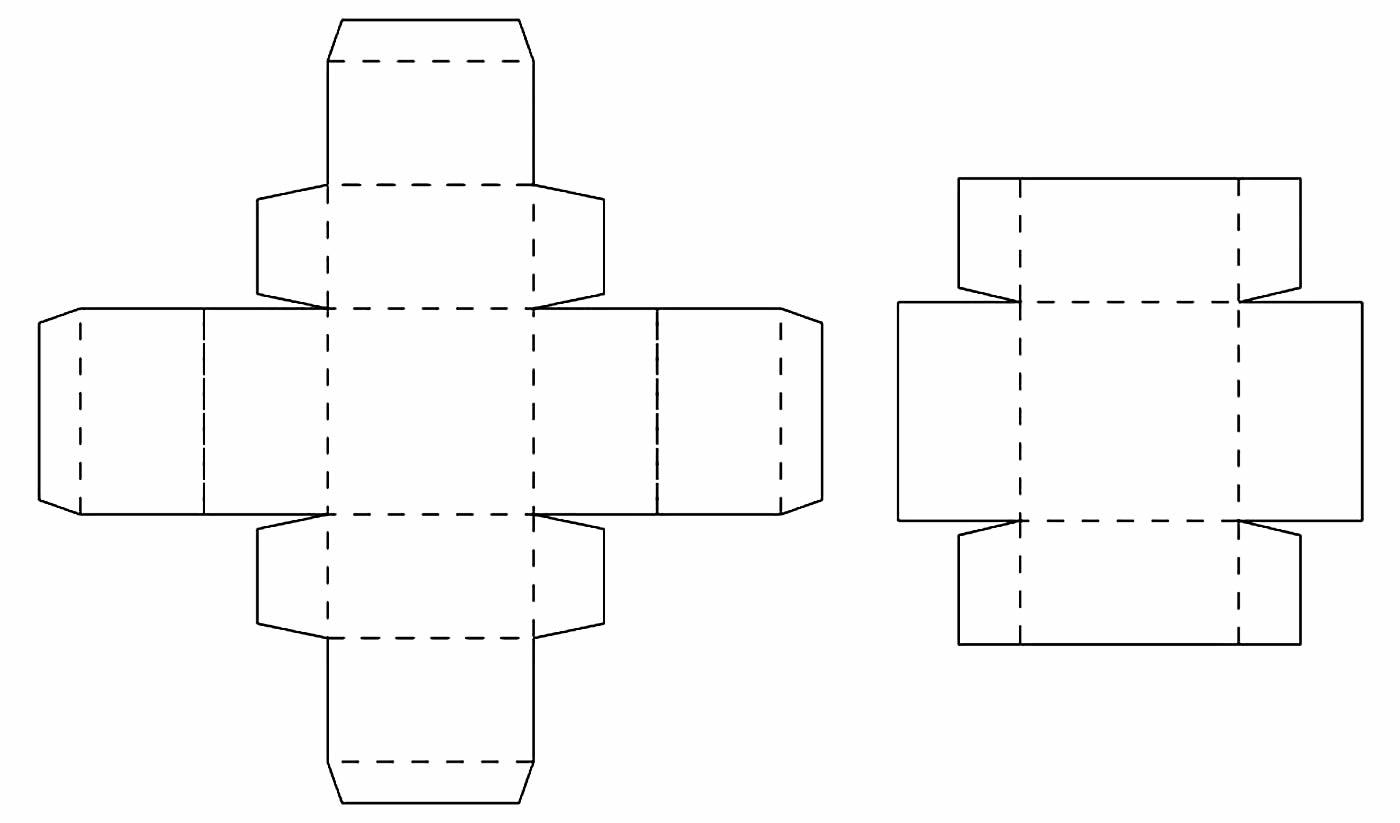 Molde de caixa de papel com tampa