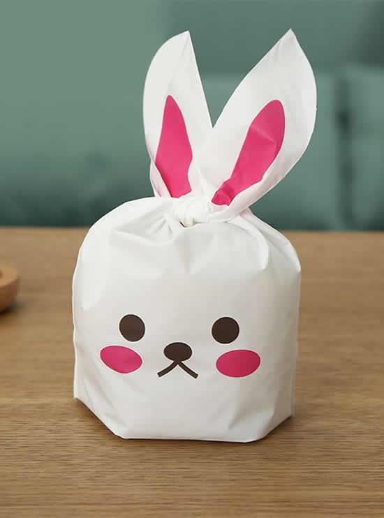 Lembrancinhas de coelhos de papel