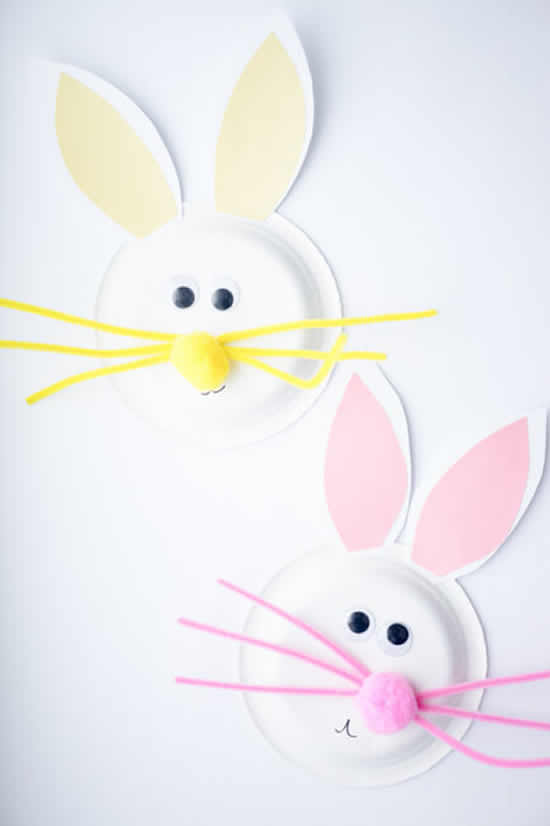 Coelhinhos de papel para fazer com crianças