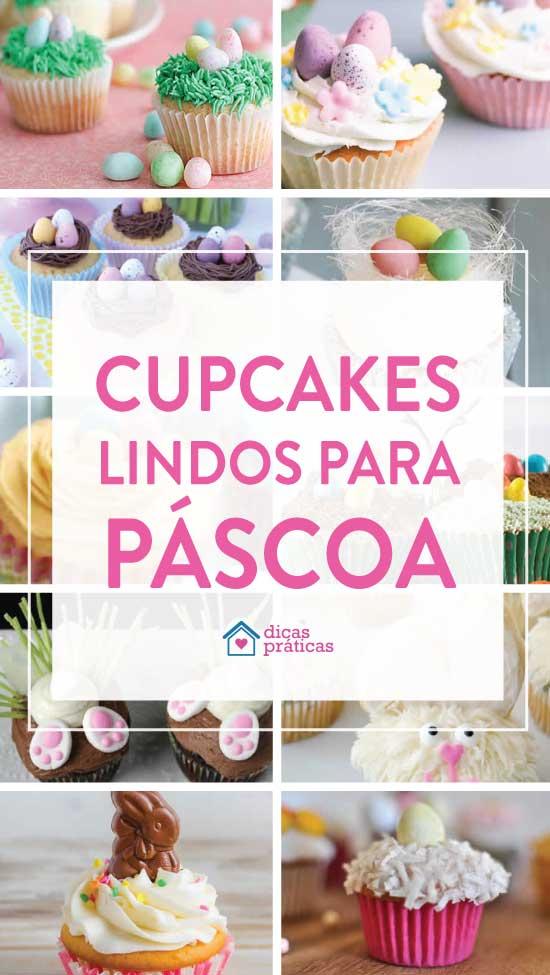 20 inspirações de cupcakes de Páscoa