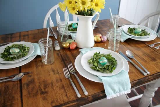 Decoração de Páscoa para mesas
