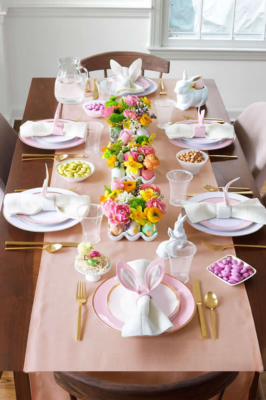 Decoração criativa para mesa de Páscoa