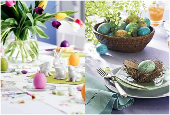 Enfeites para decoração de mesa de Páscoa