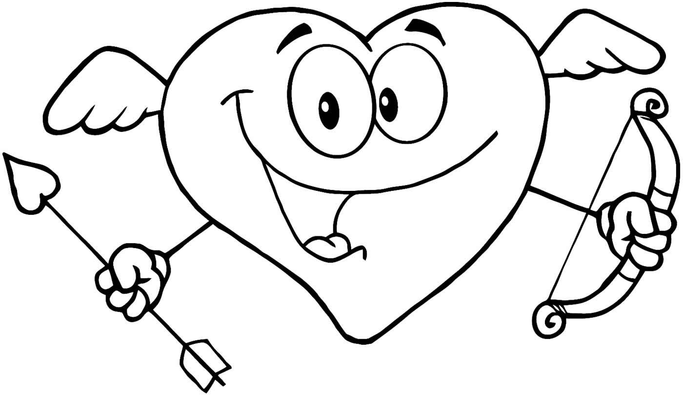 Desenho fofo de coração