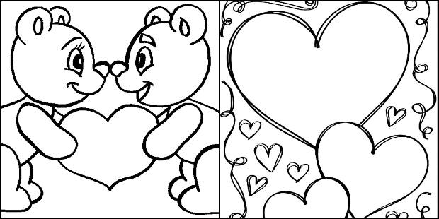 Desenhos de coração para imprimir e colorir