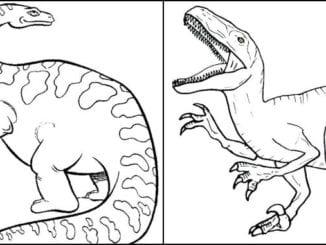 Desenhos de dinossauros para imprimir e colorir