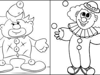 Imagens de palhaço para colorir
