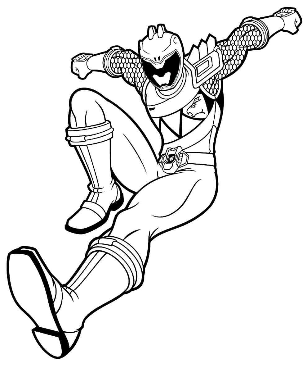 Desenho de Power Rangers para colorir