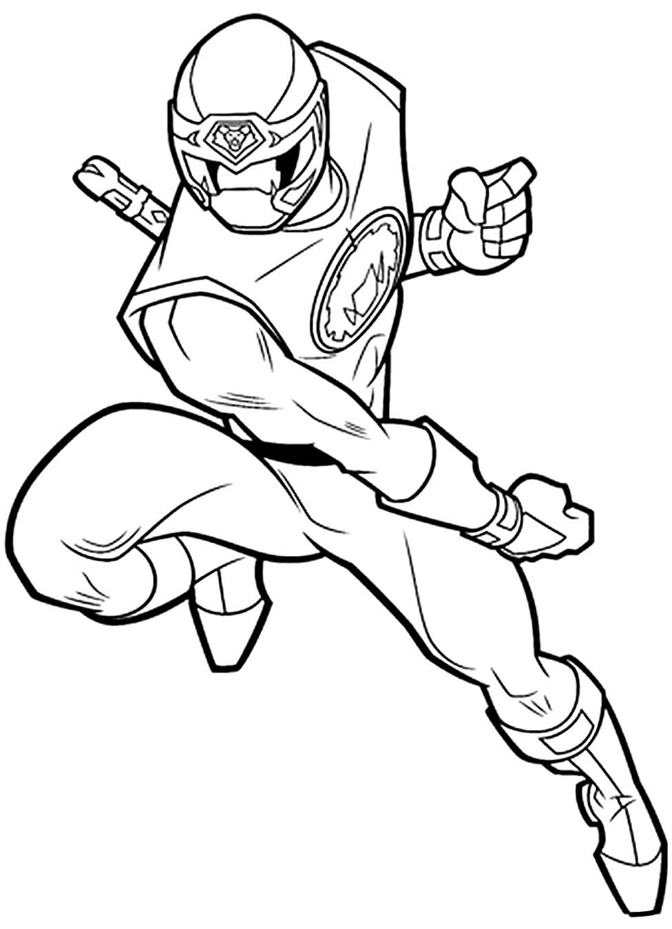 Imagem de Power Rangers para pintar