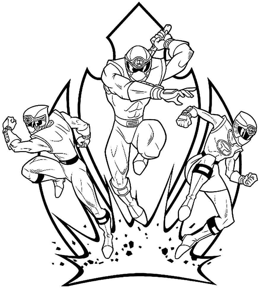 Desenho de Power Rangers para pintar