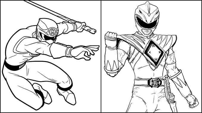 Desenhos de Power Rangers para colorir e imprimir