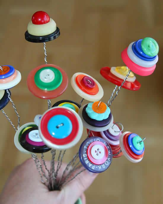 Enfeites com botões