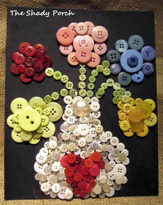 Quadro com botões