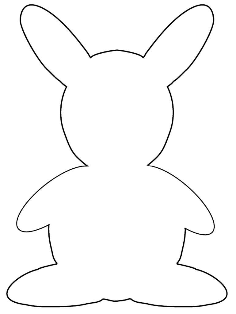 Molde de coelhinho de Páscoa em EVA