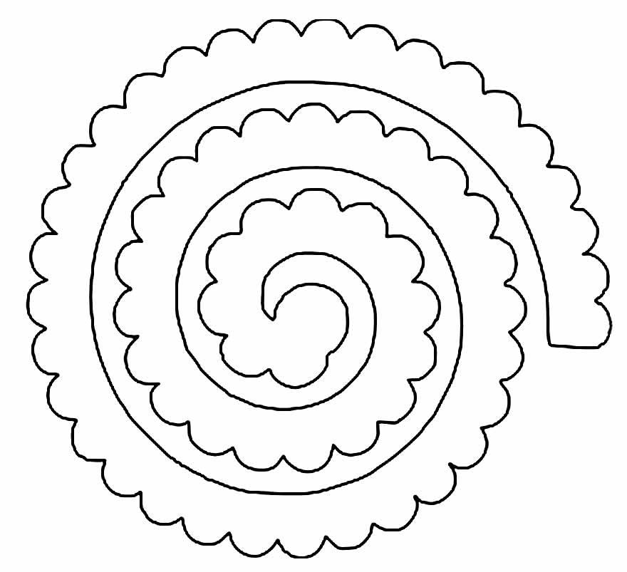 Molde para fazer rosa em espiral