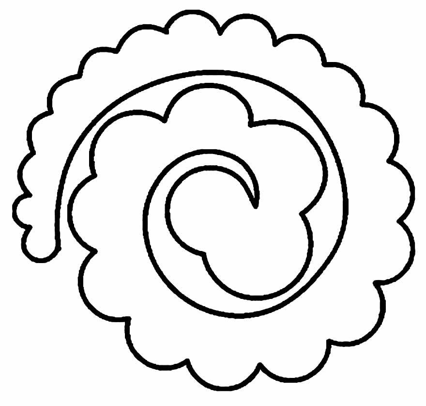 Molde espiral para fazer rosas