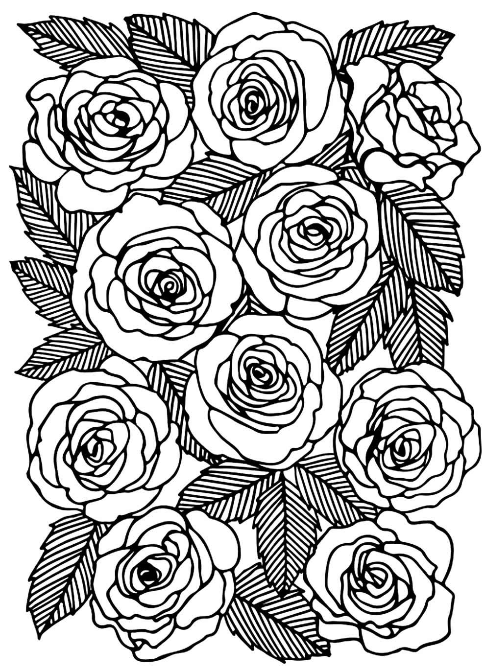 Molde de rosas para artesanato