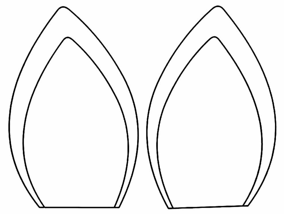 Molde de orelhas de coelhinho