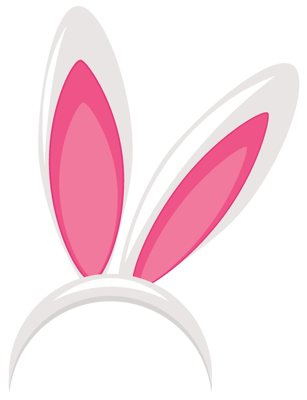 Molde colorido de orelhas de coelhinho
