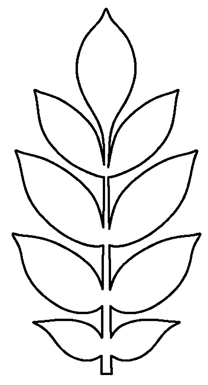 Molde para folha de papel para festa tropical