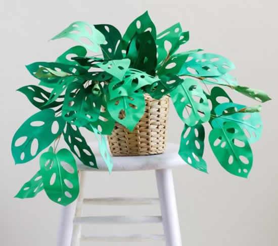 Enfeites para festa tropical com moldes
