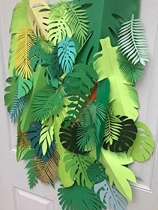 Decoração para festa tropical com moldes