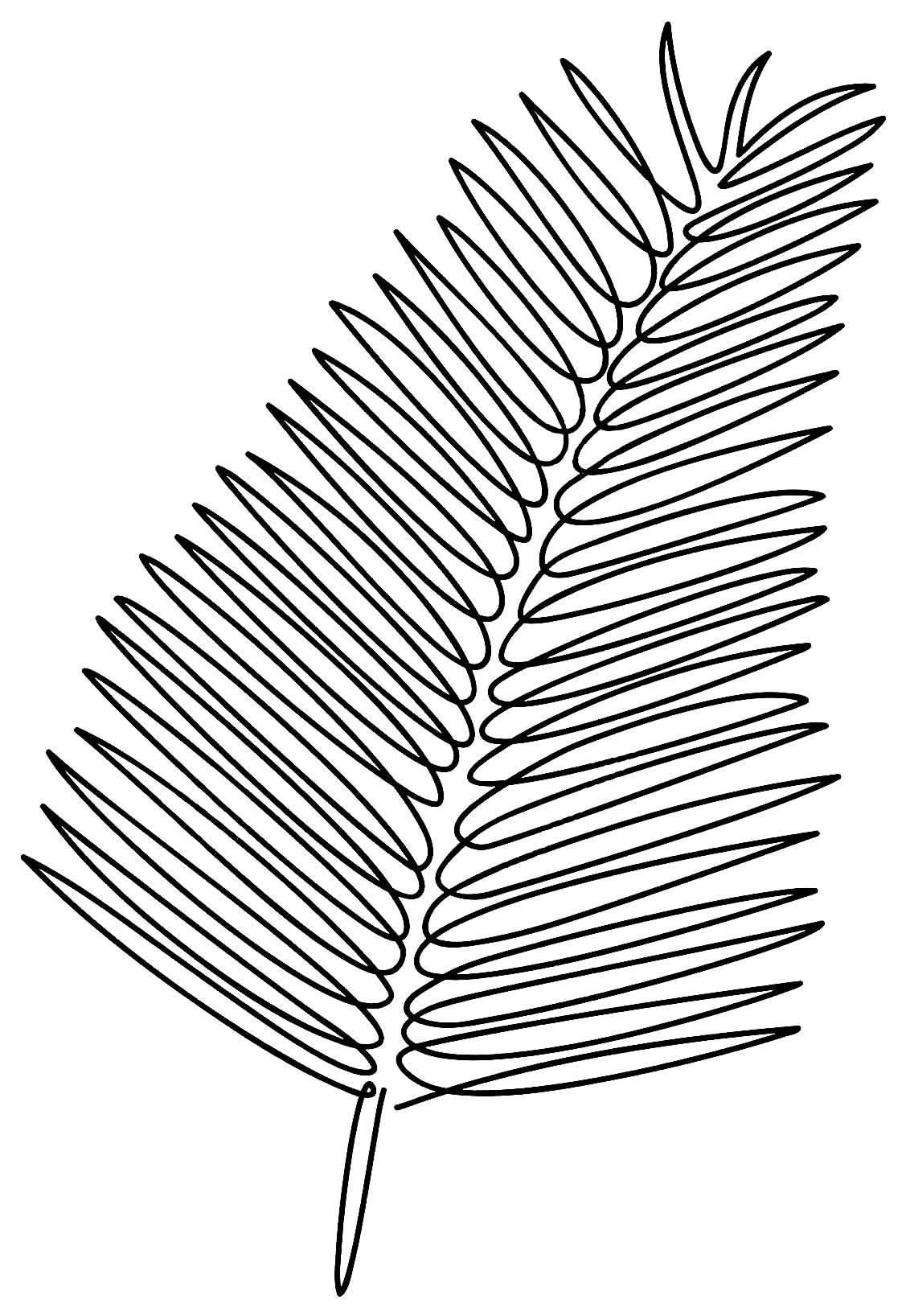 Molde de folha para festinha tropical