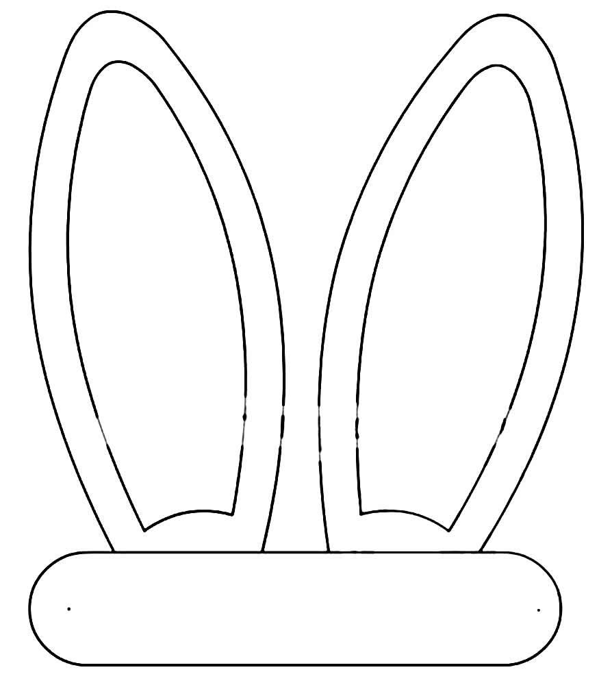 Moldes de orelhinhas de coelho de Páscoa