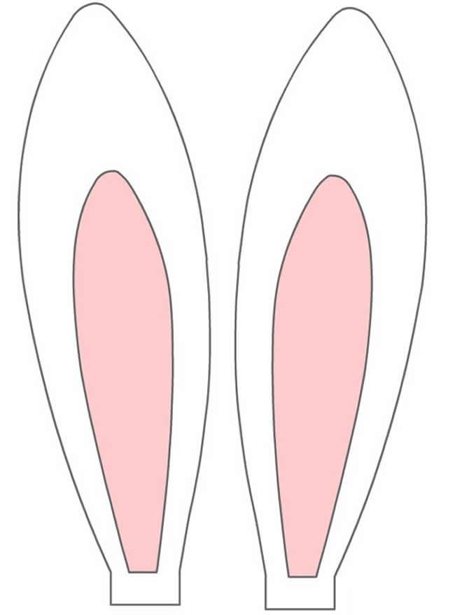 Moldes coloridos de orelhas de coelho da Páscoa