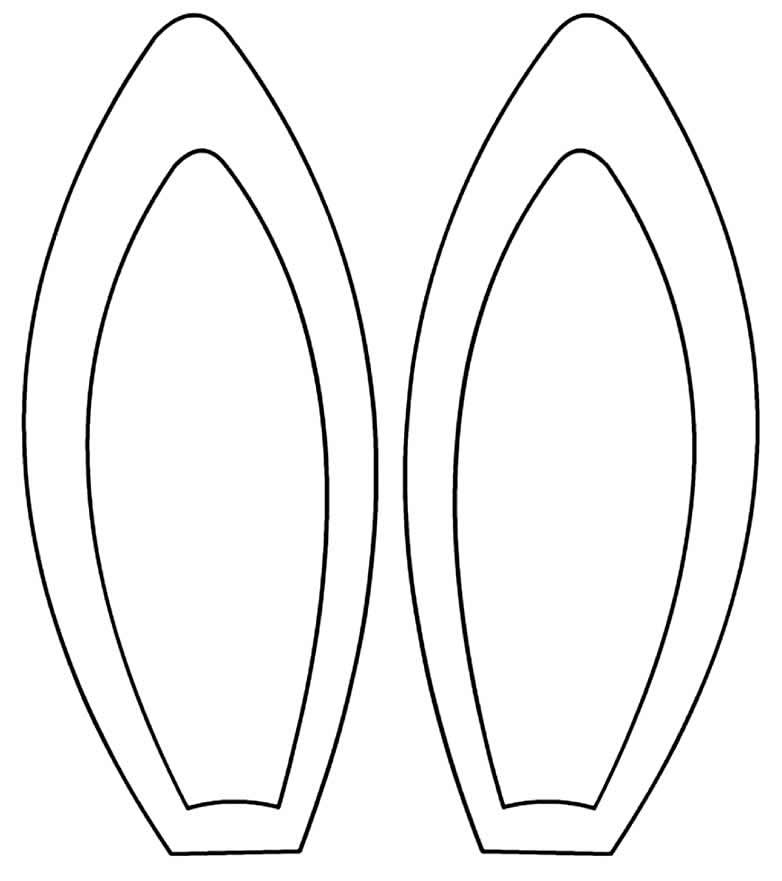 Lindos moldes de orelhas de coelho