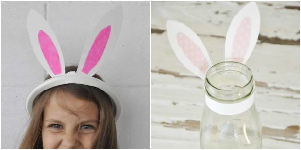 Moldes de orelhas de coelho para imprimir