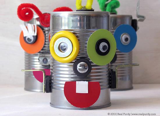 Brinquedo lindo com reciclagem