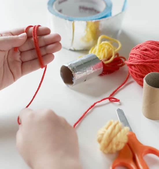Brinquedo educativo com reciclagem