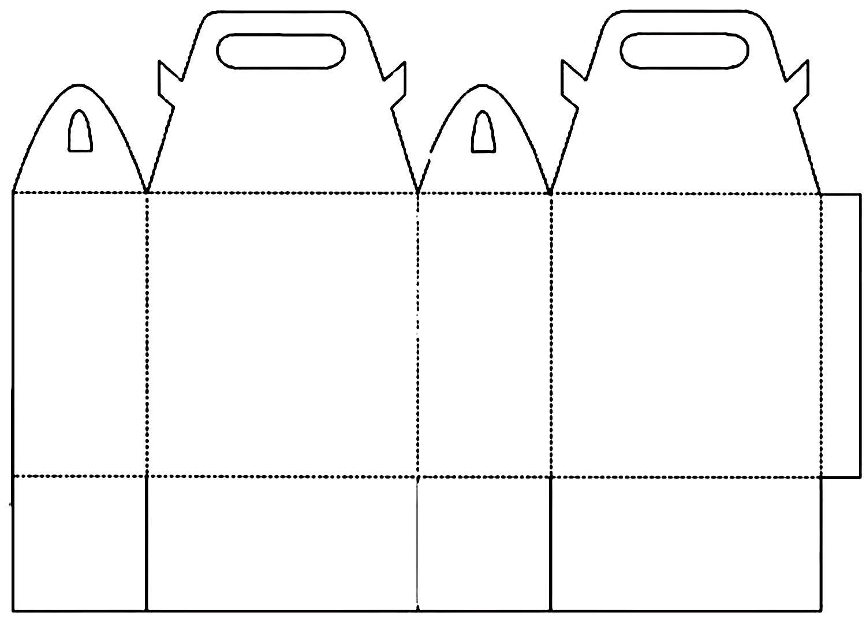 Molde de sacolinha de papel