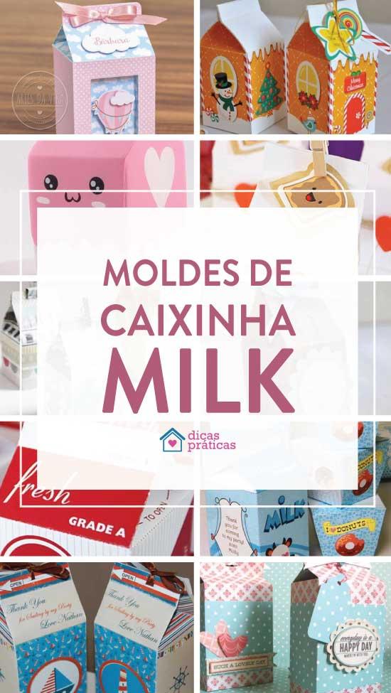 Caixinha milk com molde