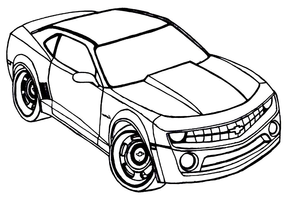 Imagem de carro para colorir