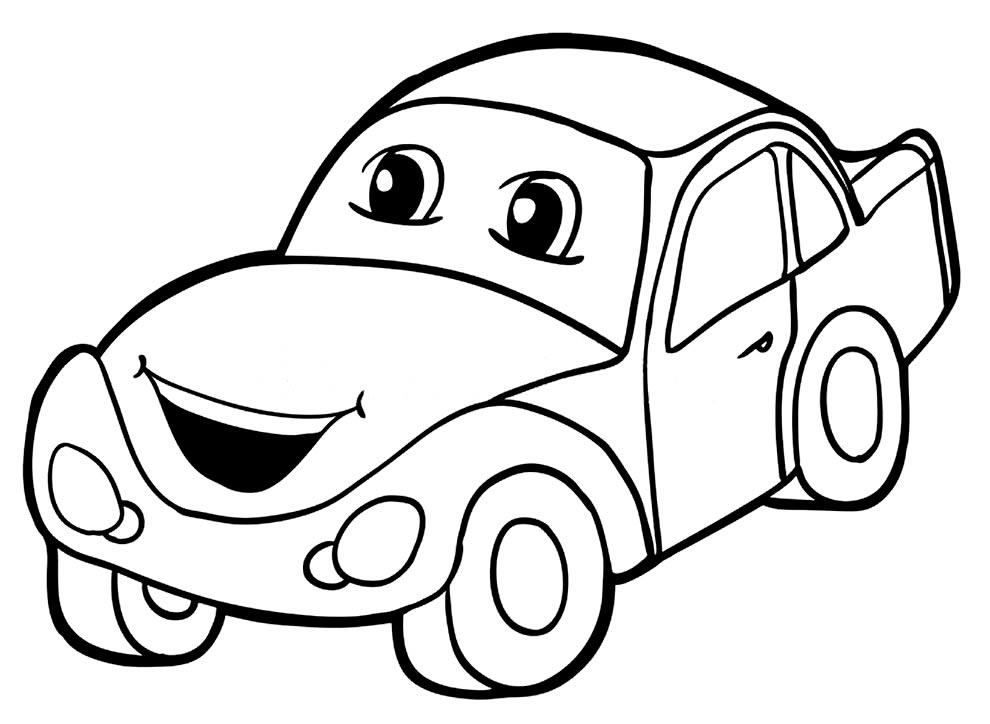 Desenho de carrinho para colorir