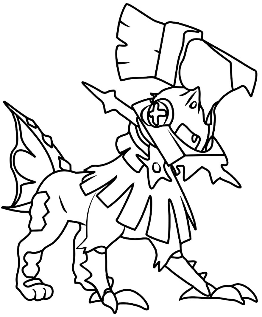 Molde de Pokémon para imprimir