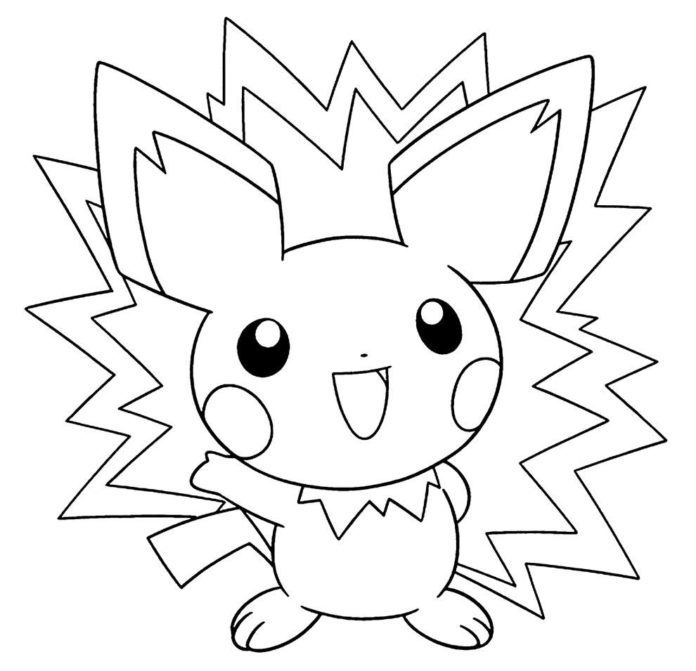 Imagem de Pokémon para colorir