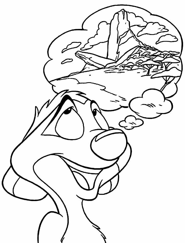 Desenho de Timão para pintar