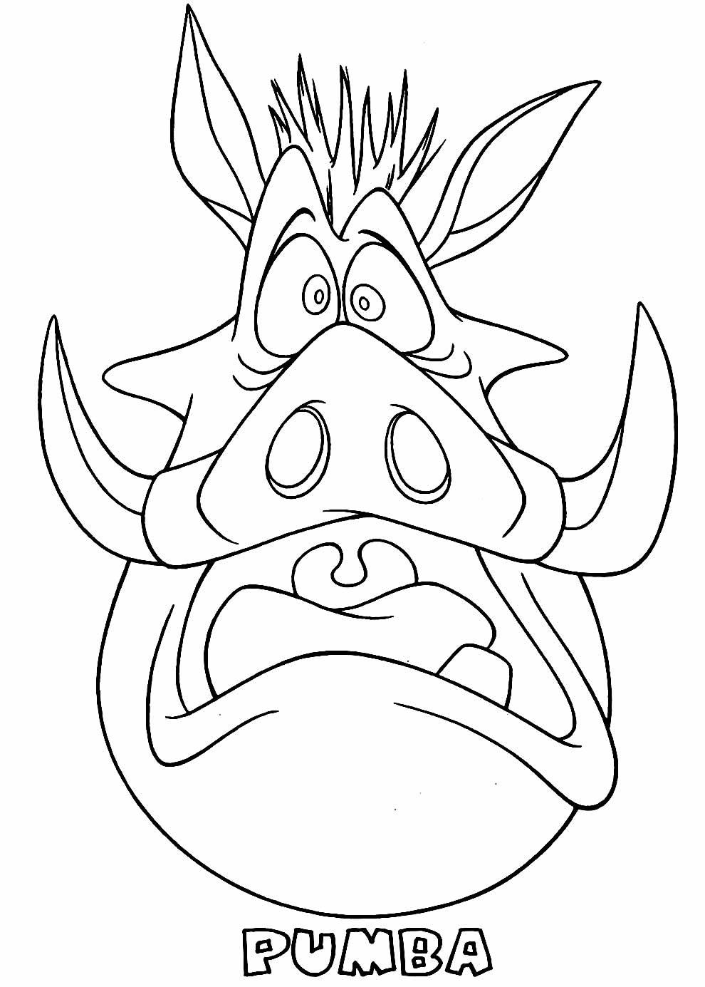 Desenho de Pumba