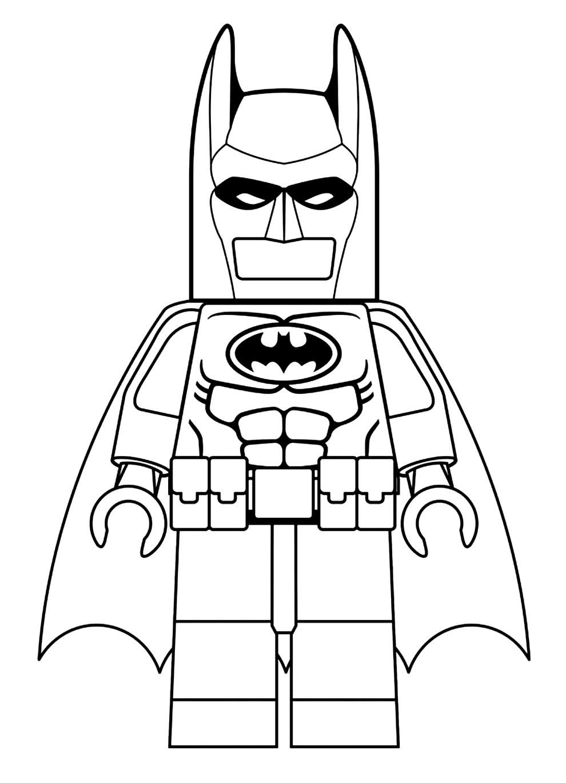 Desenho do Batman Lego para colorir
