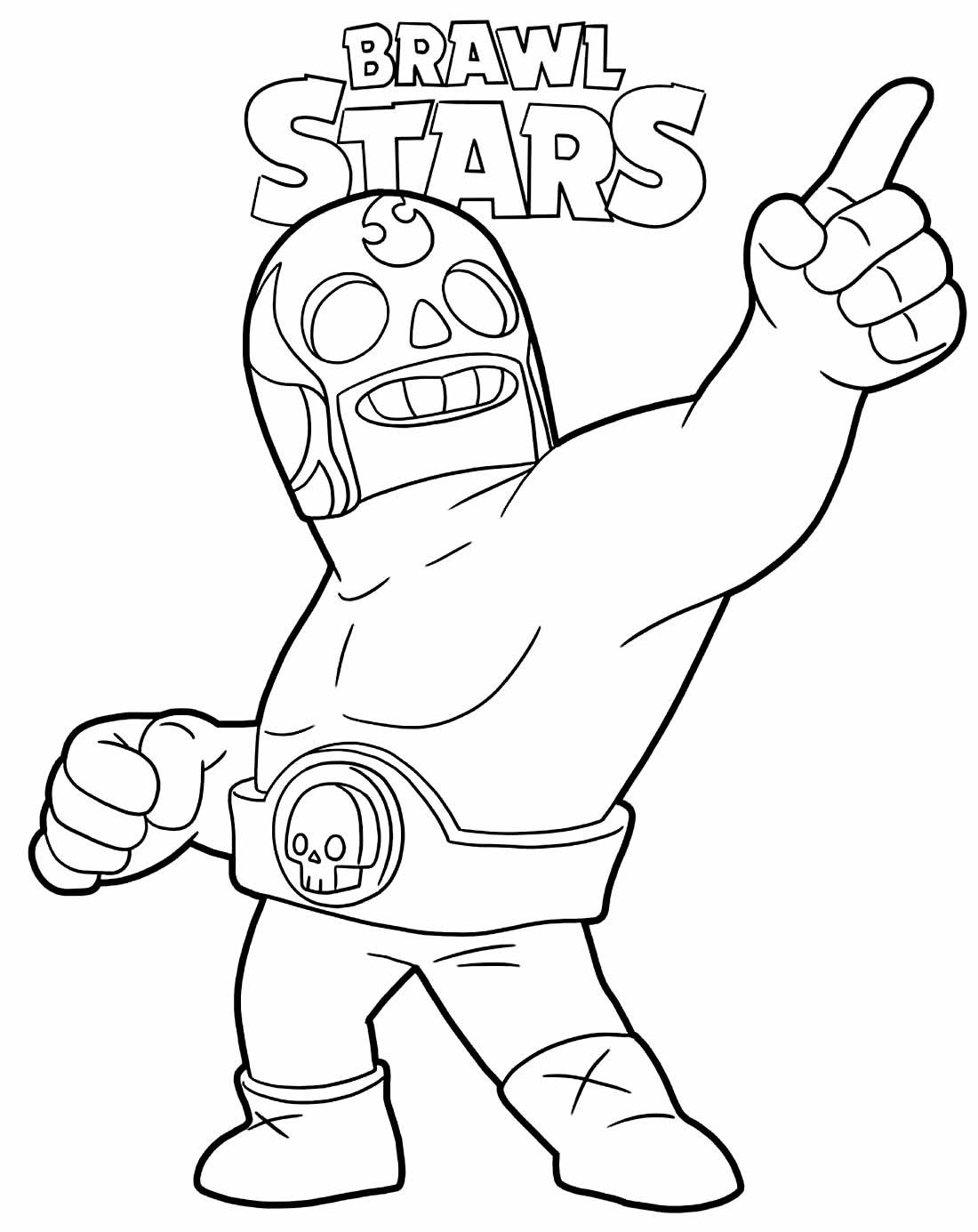 Desenho do Brawl Stars para colorir
