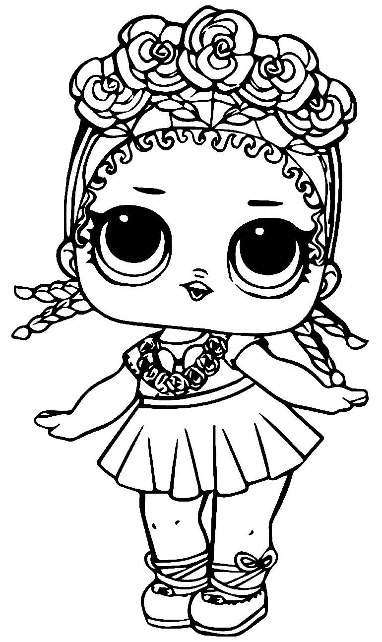 Imagem da boneca LOL para pintar