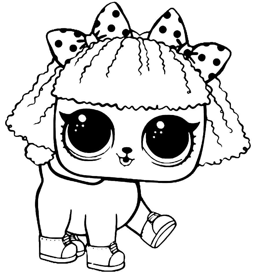 Imagem da boneca LOL para colorir