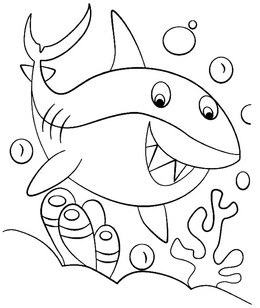 Molde de Baby Shark para imprimir
