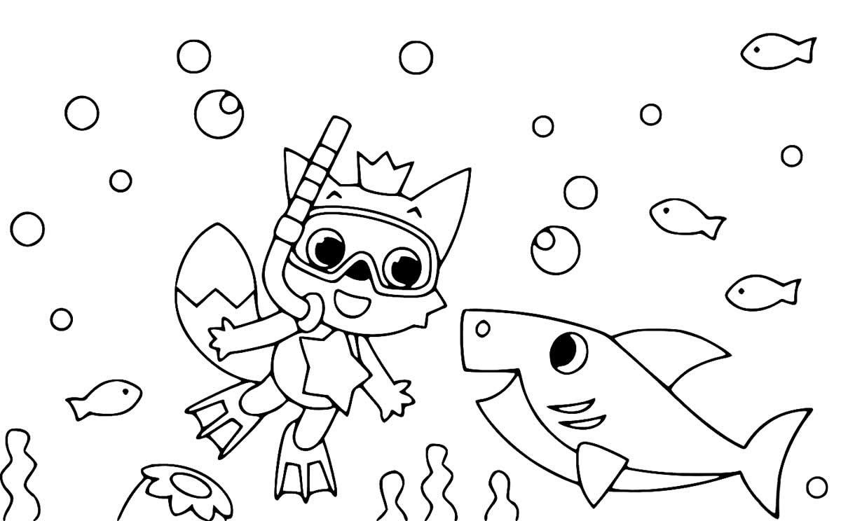 Desenhos do Baby Shark para imprimir e colorir - Dicas ...
