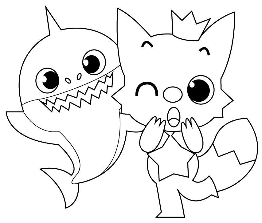 Molde de Baby Shark