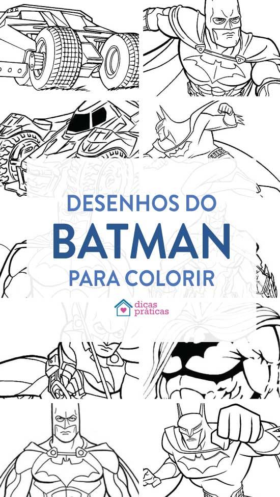 Desenhos do Batman para colorir